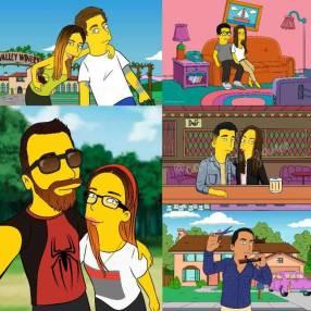 Caricaturas personalizadas estilo Simpson