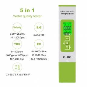 Téster digital de calidad del agua Yieryi 5 en 1