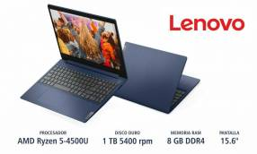 Notebook Lenovo Ryzen 5 Blue HDD 1TB