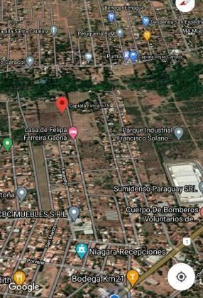 Terreno 3600 m2 en Capiatá km 21 ruta 1