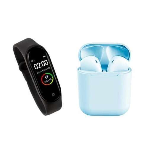 Reloj inteligente m4 + auricular i12 tws ️ delivery gratis - 3