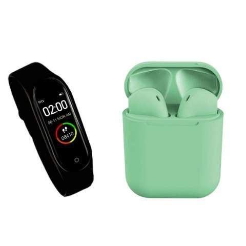 Reloj inteligente m4 + auricular i12 tws ️ delivery gratis - 4