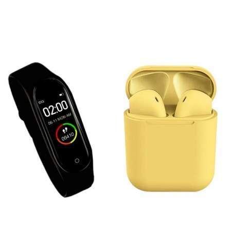 Reloj inteligente m4 + auricular i12 tws ️ delivery gratis - 5