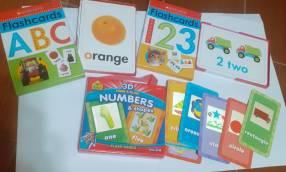 3 sets de flash cards en inglés
