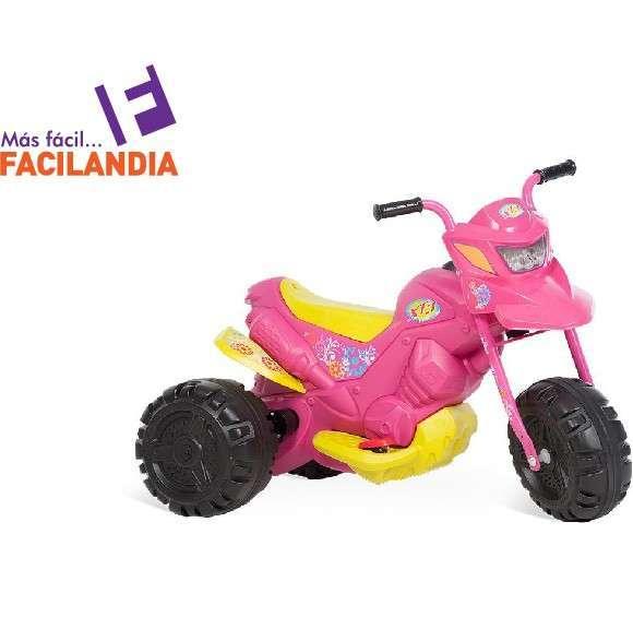 Moto eléctrica XT3 rosa 6V - 0