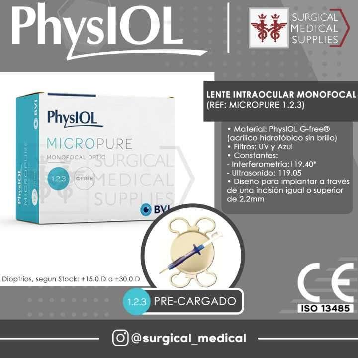 Lente intraocular monofocal PhysIOL - 0