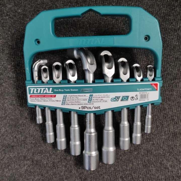Juego de 9 piezas llaves de tubo en L angulado - 0