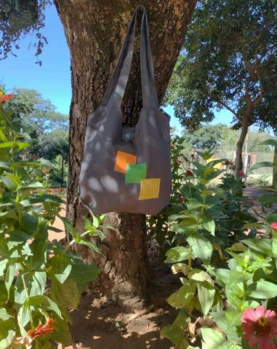Bolsones artesanales de tela tapicería - 2