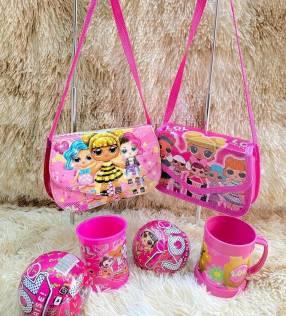 kit LOL carterita+taza+juguete LOL