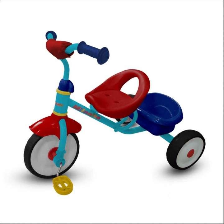 Triciclo milanito rojo/amarillo - 0