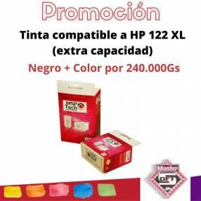 Tinta compatible a HP 122XL Negro + Color combo
