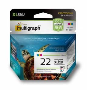 Cartucho multigraph 22 xl color 17.3ml