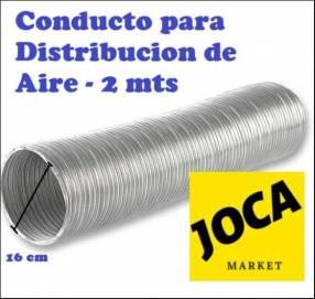 Conducto de distribución de aire caliente para cocina
