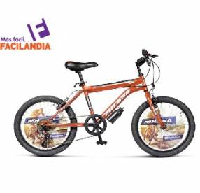 Bicicleta Milano action 20 bmx 6vel.rojo
