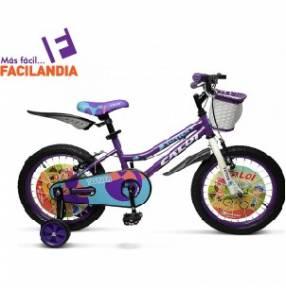 Bicicleta Caloi New Totica aro 20 color lila