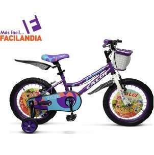 Bicicleta Caloi New Totica aro 20 color lila - 0