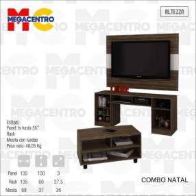 Combo Natal panel p/ TV hasta 55 pulgadas