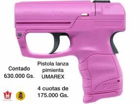 Pistola lanza pimienta rosa