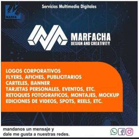 Diseño gráfico, edición de videos, servicios multimedios digitales