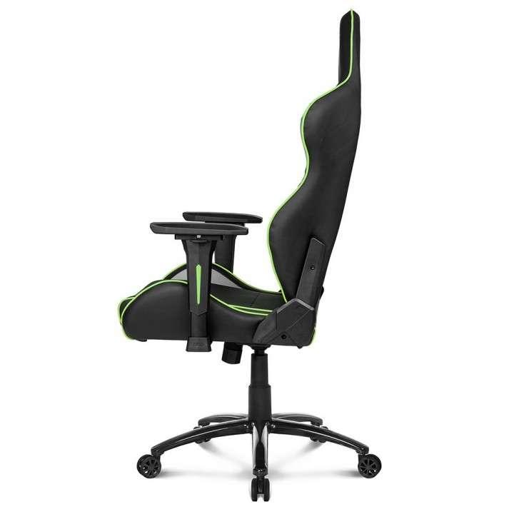 Silla De Escritorio Gamer AKRacing Overture - Negro/Verde/Gr - 2