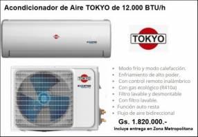 Acondicionadores de Aire Tokyo de 12.000 BTU/h