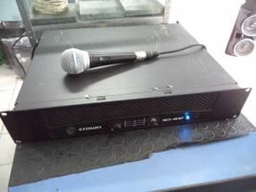 Amplificador de sonido para discoteca Crown