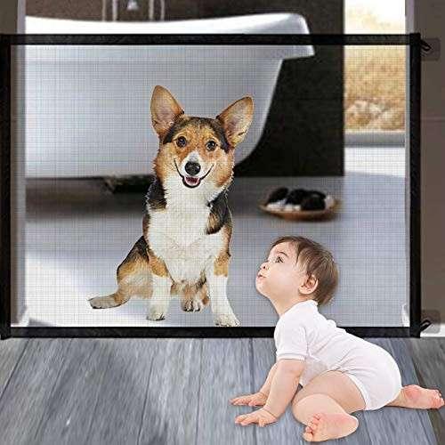 Barrera plegable de seguridad para bebés y perros - 3