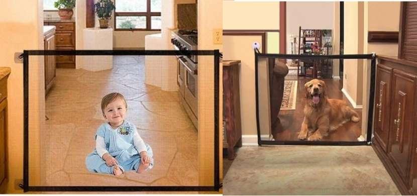 Barrera plegable de seguridad para bebés y perros - 0