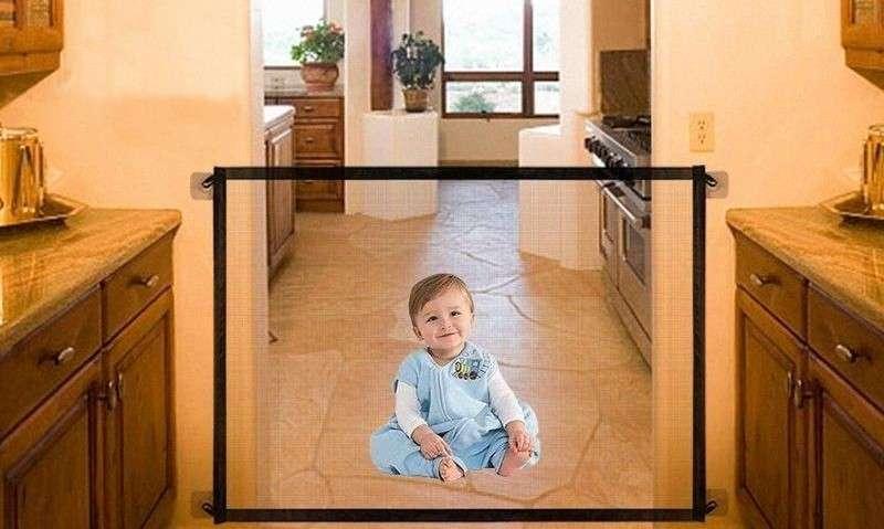 Barrera plegable de seguridad para bebés y perros - 4