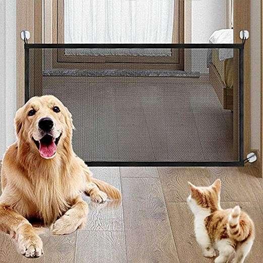 Barrera plegable de seguridad para bebés y perros - 1