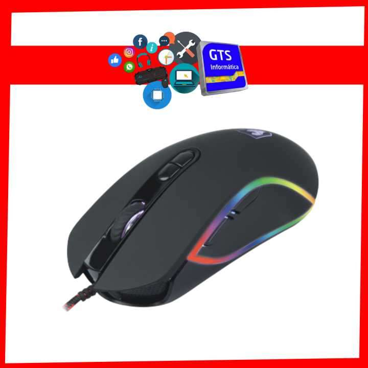 Mouse Sate A-66 gaming rgb 3200DPI - 0