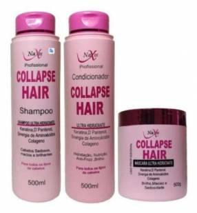 Kit Naxos Collapse Hair shampoo acondicionador y máscara