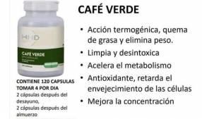 Café verde limpia y desintoxica, acelera el metabolismo