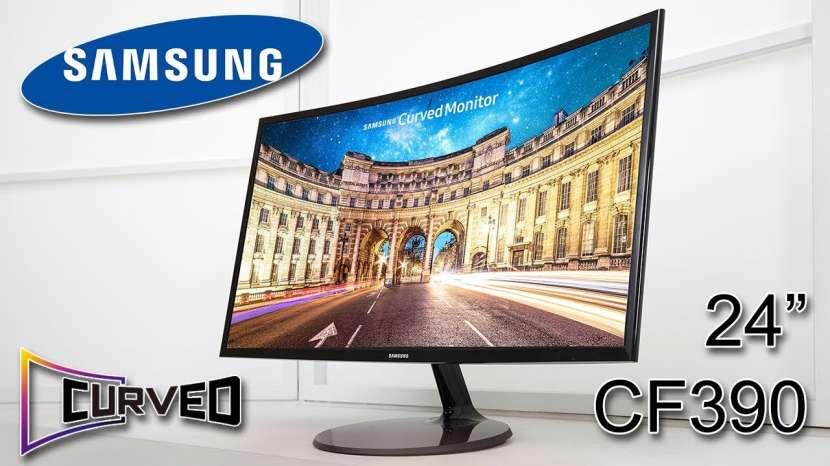 Monitor led curvo Samsung 24 pulgadas vga hdmi - 0