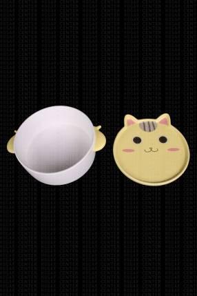 Mini bowl cerámico con tapa diseño gato 15x6cm