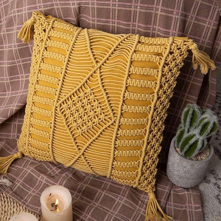 Cojín amarillo 45x45cm - 4