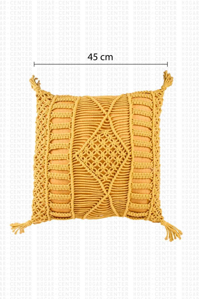 Cojín amarillo 45x45cm - 5