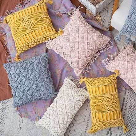 Cojín amarillo 45x45cm - 2