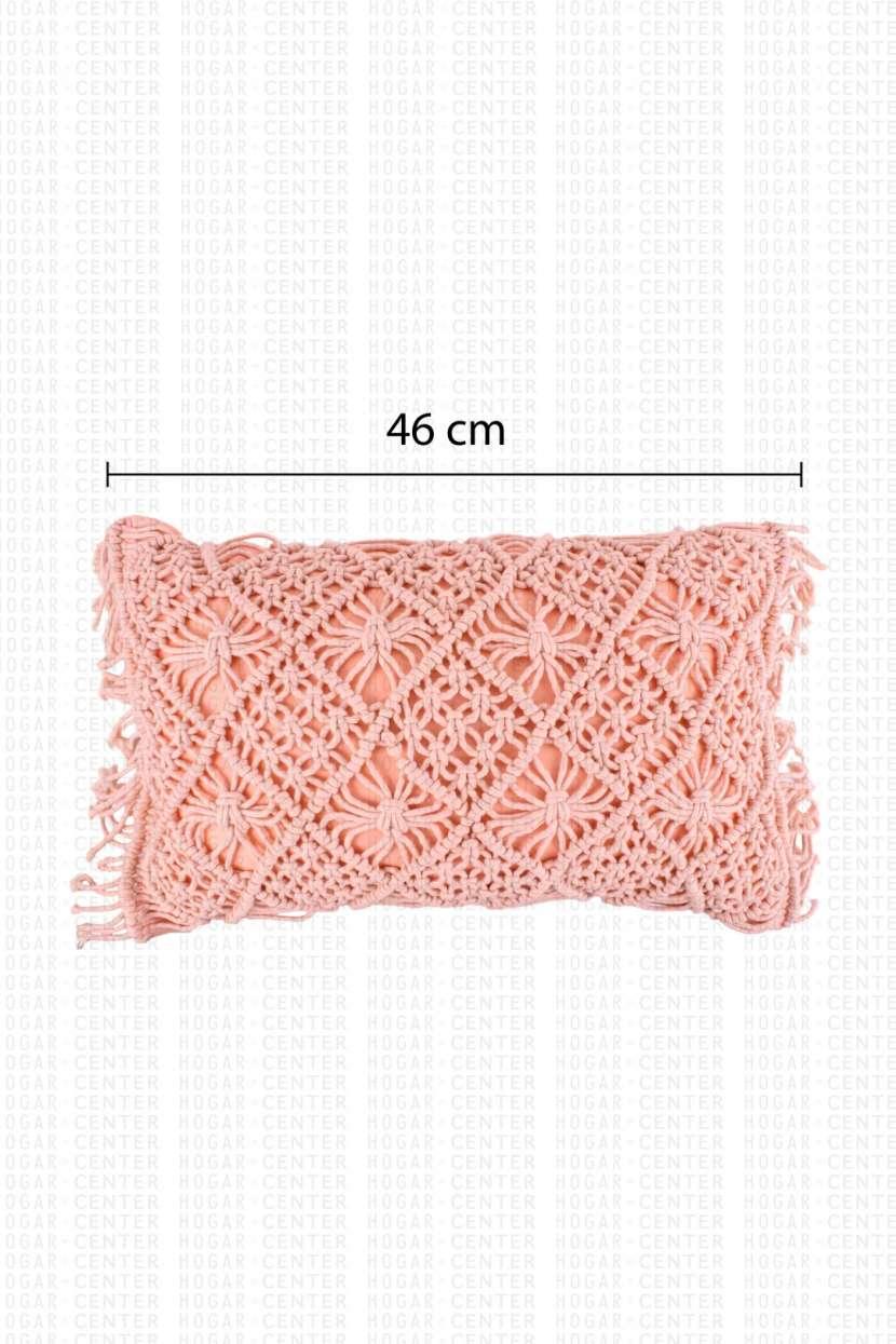 Cojín rosa 46x30 cm - 1