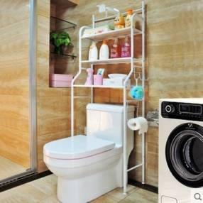 Estante organizador para baño 60x25x158 cm