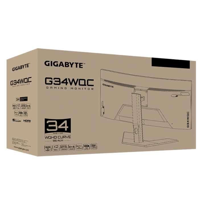 "Monitor gamer Gigabyte G34WQC 34"" WQC 1MS/144HZ - 7"