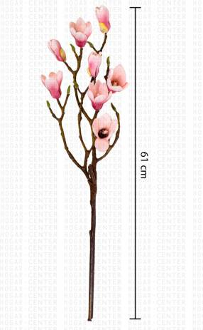 Flor artificial con ramas magnolia 74 cm