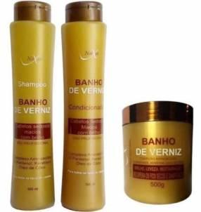 Kit baño de verniz Naxos shampoo acondicionador y máscara