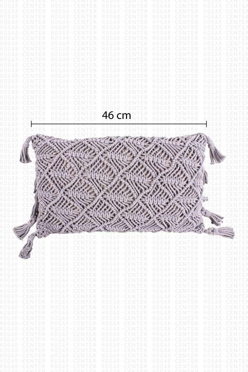 Cojín gris 46x30 cm - 2