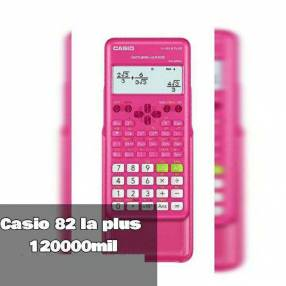 Calculadora Casio fx 82 la plus rosa