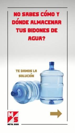 Soporte metálico para bidodes de agua