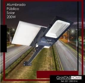 Alumbrado público solar LED 200W