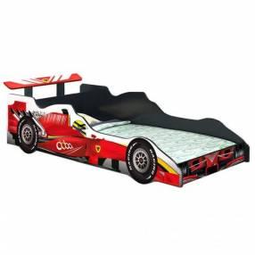 Cama con diseño de carro formula 1