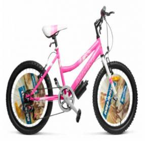 Bicicleta Milano Action aro para dama lila/rosado