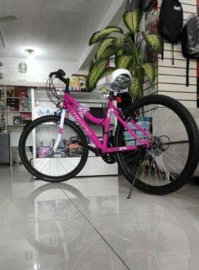 Bicicleta Milano Action aro 24 para dama rosado (3913)